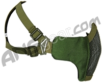 Bravo Airsoft Tactical V3 Strike Metal Mesh Face Mask - Olive Drab