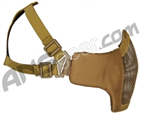 Bravo Airsoft Tactical V3 Strike Metal Mesh Face Mask - Tan