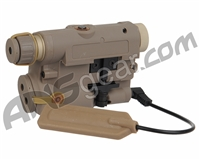 Bravo Airsoft P15 Flashlight & Green Laser - FDE