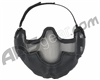 Bravo TacGear V2 Strike Steel Mesh Airsoft Mask - Black