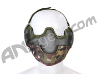 Bravo TacGear V2 Strike Steel Mesh Airsoft Mask - Multicam