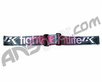 Contract Killer Goggle Strap - Grey/Pink Fight Life
