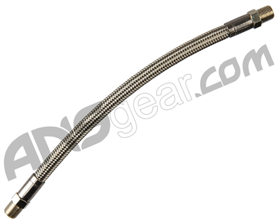 "Stainless Steel Braided High Pressure Hose - 9"" Length"