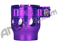 Custom Products Clamping Feed Neck - Autococker/Bob Long Thread - Purple