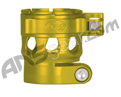 Custom Products Clamping Feed Neck - Planet Eclipse Late Model Ego/Etek Style Thread - Dust Yellow