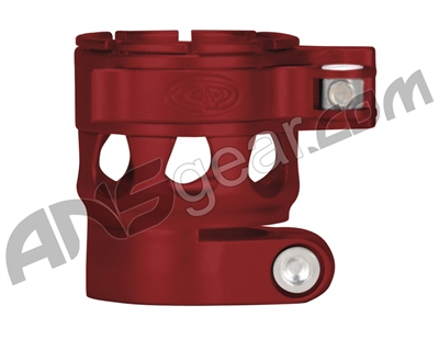 Custom Products Clamping Feed Neck - Planet Eclipse Early Model Ego/Etek Style Thread - Dust Red
