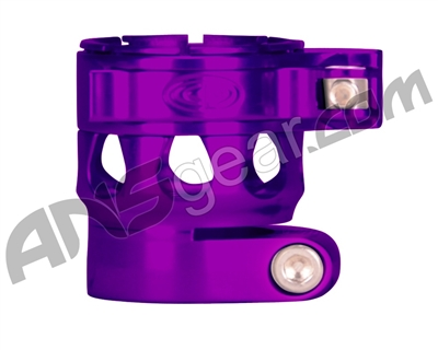 Custom Products Clamping Feed Neck - Planet Eclipse Early Model Ego/Etek Style Thread - Purple