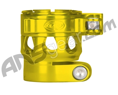 Custom Products Clamping Feed Neck - Planet Eclipse Early Model Ego/Etek Style Thread - Yellow