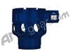 Custom Products Clamping Feed Neck - Azodin/Empire/Kingman/Smart Parts/WDP Thread - Blue