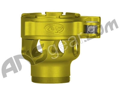 Custom Products Clamping Feed Neck - Azodin/Empire/Kingman/Smart Parts/WDP Thread - Dust Yellow