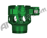 Custom Products Clamping Feed Neck - Azodin/Empire/Kingman/Smart Parts/WDP Thread - Green