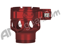 Custom Products Clamping Feed Neck - Azodin/Empire/Kingman/Smart Parts/WDP Thread - Red