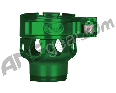 Custom Products Clamping Feed Neck - Smart Parts Shocker NXT/Ion XE Thread - Green
