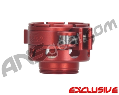 Custom Products CP Spyder VS1, VS2, VS3, RS, & RSX No-Rise Clamping Feed Neck - Dust Red