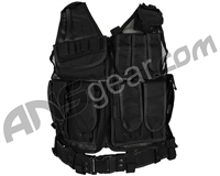 Defcon Gear 600 Denier Tactical Crossdraw Airsoft Vest - Black