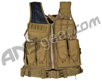 Defcon Gear 600 Denier Tactical Crossdraw Airsoft Vest - Flat Dark Earth