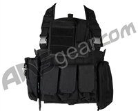 Defcon Gear 600 Denier Commando Airsoft Chest Rig Vest - Black