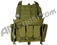 Defcon Gear 600 Denier Commando Airsoft Chest Rig Vest - Olive Drab
