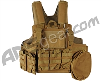Defcon Gear 900 Denier Complete CFR Carrier Airsoft Vest - Coyote Brown