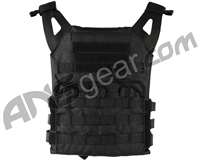 Defcon Gear Low Profile Plate Carrier Airsoft Vest - Black