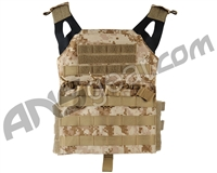 Defcon Gear Low Profile Plate Carrier Airsoft Vest - Digital Desert