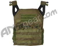 Defcon Gear Low Profile Plate Carrier Airsoft Vest - Olive Drab