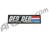 "Der Der Flag Sticker - 4 1/2"" x 1 1/2"""