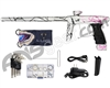 DLX Luxe Ice Paintball Gun - LE 3D Splash Dust White w/ Black/Pink Fade