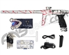 DLX Luxe Ice Paintball Gun - LE 3D Splash Dust White w/ Red/Black Fade