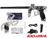 DLX Luxe Ice Paintball Gun - Laser Engraved Grunge - Dust Black/Dust Black