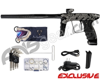 DLX Luxe Ice Paintball Gun - Laser Engraved Mushu - Black/Black