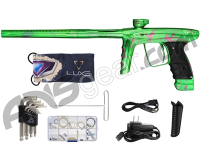 DLX Luxe Ice Paintball Gun - LE 3D Splash Polished Slime Green w/ Pink/Purple Fade