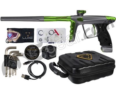 DLX Luxe X Paintball Gun - Dust Pewter/Green