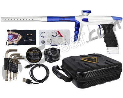 DLX Luxe X Paintball Gun - Dust White/Blue