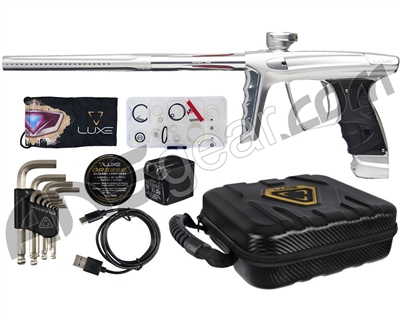 DLX Luxe X Paintball Gun - Dust White/Clear