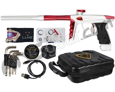 DLX Luxe X Paintball Gun - Dust White/Red