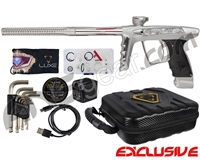 DLX Luxe X Paintball Gun w/ Premiere Engraving - Dust White/Clear