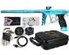 DLX Luxe X Paintball Gun - Matte Teal/Gloss Teal/Silver Splash