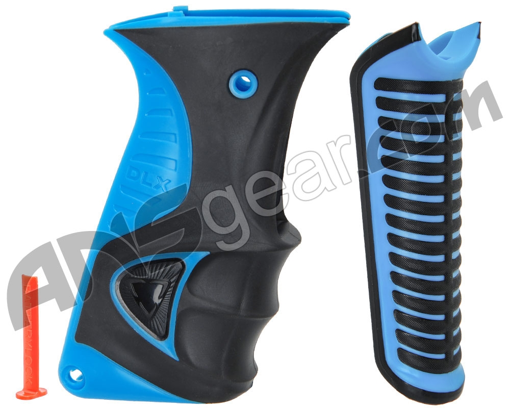 DLX Paintball Luxe X Cyan **FREE Shipping** Ice Grip Kit Blue