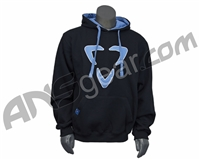 DLX Luxe Logo Pull Over Hooded Sweatshirt - Black/Blue