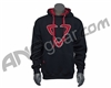 DLX Luxe Logo Pull Over Hooded Sweatshirt - Black/Red