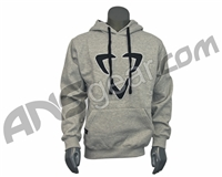 DLX Luxe Logo Pull Over Hooded Sweatshirt - Grey/Black