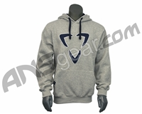 DLX Luxe Logo Pull Over Hooded Sweatshirt - Grey/Blue