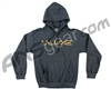 DLX Luxe Hooded Pullover Sweatshirt - Grey (Black Outline)