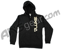 DLX Luxe Zip Up Hooded Sweatshirt - Black