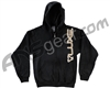 DLX Luxe Zip Up Hooded Sweatshirt - Black/Tan