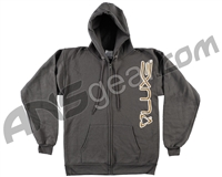 DLX Luxe Zip Up Hooded Sweatshirt - Grey