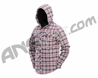 Dye Flannel Hooded Sweatshirt - Grey/Red