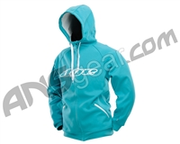 Dye Snow Hooded Sweatshirt - Aqua/White