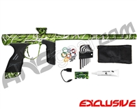 Dye DSR Paintball Gun - Classic Splash Green w/ Black/Silver